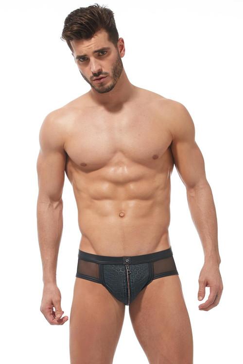 Gregg Homme Redline Brief 170103 - Mens Fetish Briefs - Front View - Topdrawers Underwear for Men