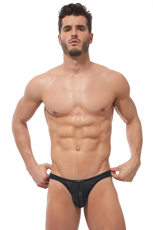Gregg Homme Strap Brief 170203 - Mens Fetish Briefs - Front View - Topdrawers Underwear for Men