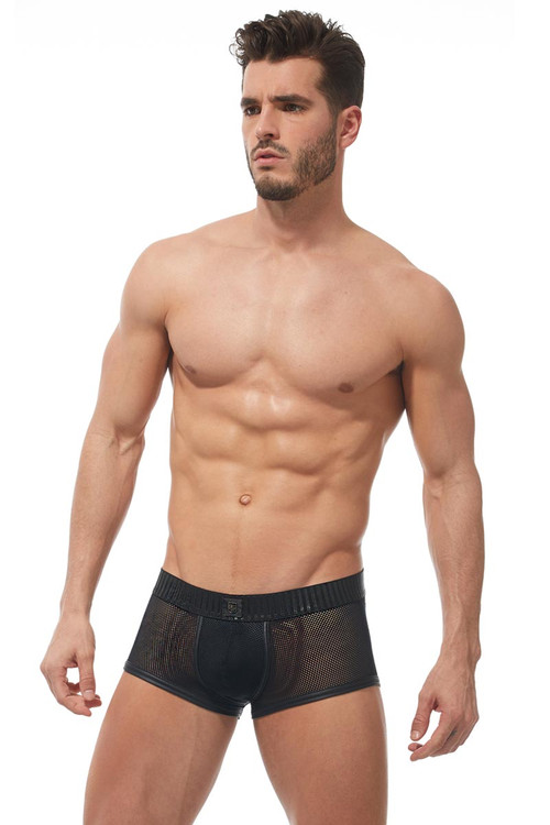 Gregg Homme Strap Boxer Brief 170205 - Mens Fetish Boxer Briefs - Front View - Topdrawers Underwear for Men