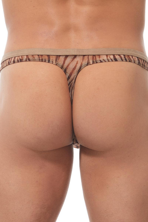Gregg Homme Casablanca Thong 170304 - Natural - Mens Thongs - Rear View - Topdrawers Underwear for Men