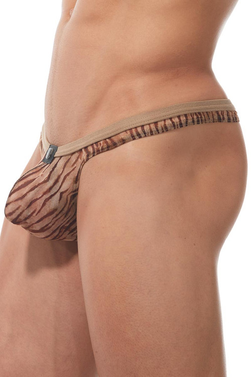Gregg Homme Casablanca Thong 170304 - Natural - Mens Thongs - Side View - Topdrawers Underwear for Men