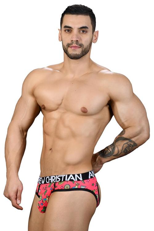 Andrew Christian Caliente Air Jock w/ Almost Naked 91077 - Mens Jock Briefs - Side View - Topdrawers Underwear for Men