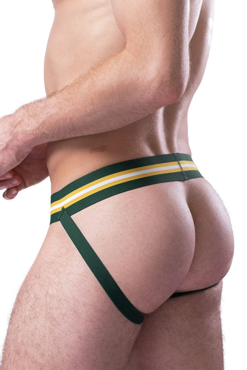 Coyote Jocks Hunter Green Jock M301 - Hunter Green - Mens Jockstraps - Close Rear View - Topdrawers Underwear for Men