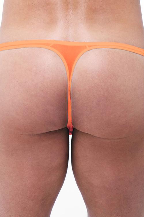 Gregg Homme Torridz Thong 87404 - Orange - Mens Thongs - Rear View - Topdrawers Underwear for Men