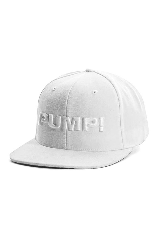 PUMP! All White Snapback 31010 - Mens Caps - Side View - Topdrawers Clothing for Men
