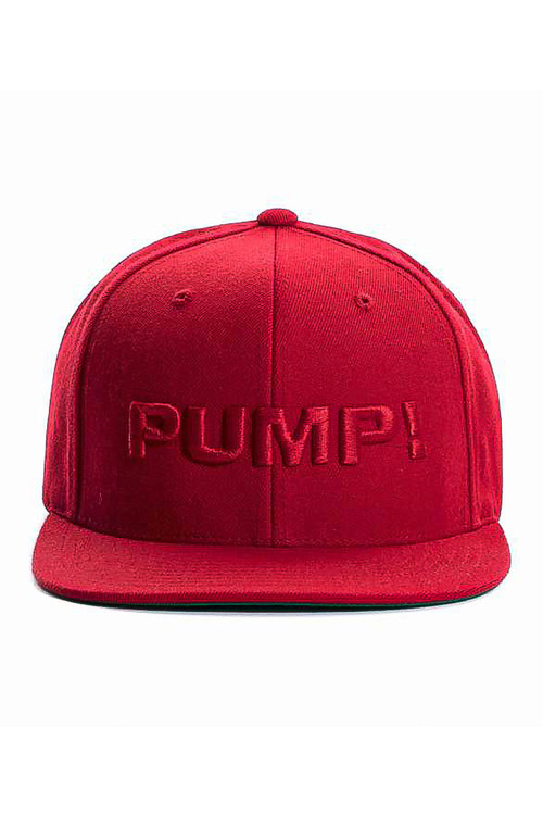 PUMP! All Red Snapback 31009 - Mens Caps - Front View - Topdrawers Clothing for Men