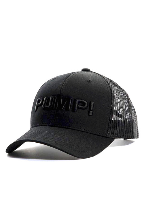 PUMP! All Black Ball Cap 31004 - Mens Caps - Side View - Topdrawers Clothing for Men