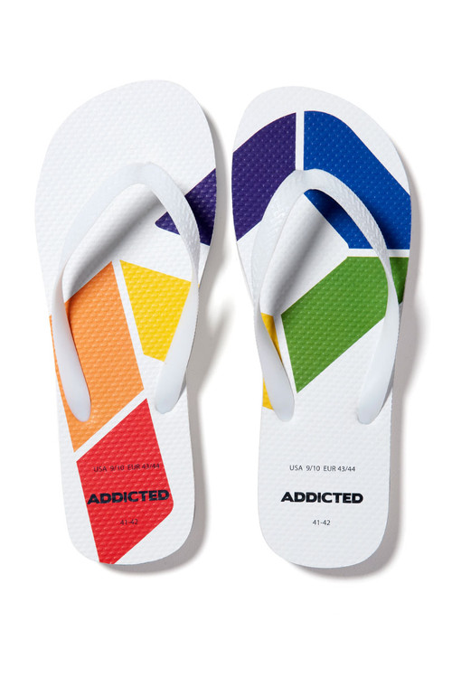 Addicted AD Rainbow Flip Flop AD795 - Mens Footwear - Front View - Topdrawers Gear for Men