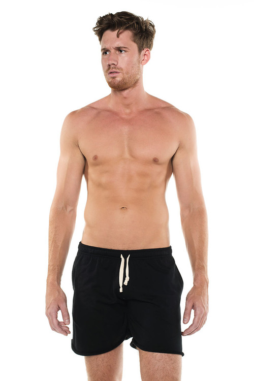 Go Softwear West Coast Vibe Warm-Up Shorts 4677 - Black - Mens Athletic Shorts - Front View - Topdrawers Clothing for Men