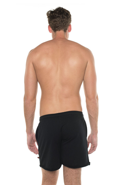 Go Softwear West Coast Vibe Warm-Up Shorts 4677 - Black - Mens Athletic Shorts - Rear View - Topdrawers Clothing for Men
