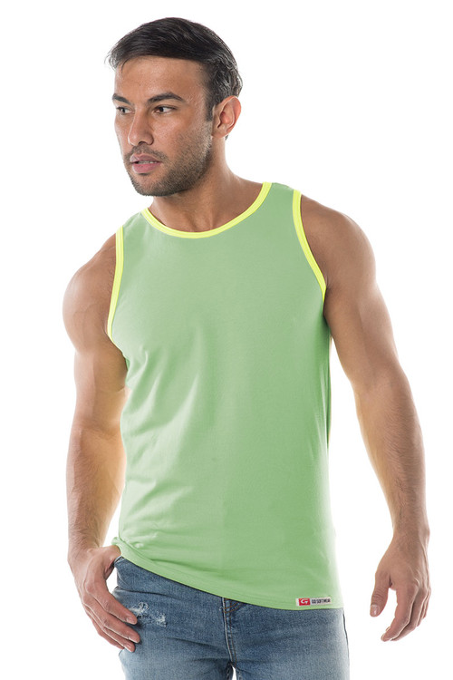 Go Softwear South Beach Classic Tank 4705 - Sea Green - Mens Tank Tops - Front View - Topdrawers Clothing for Men