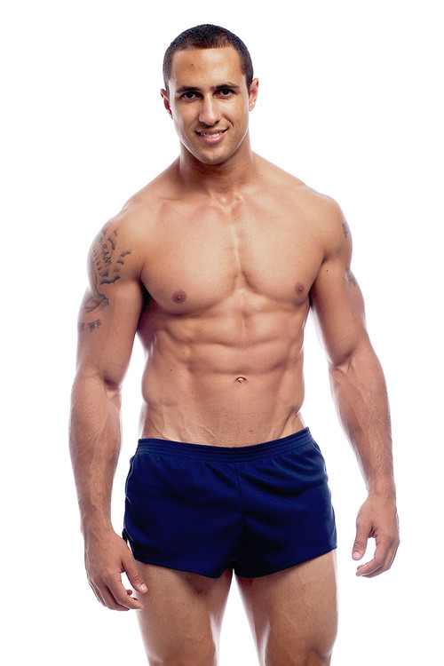 Go Softwear AJ Ultra Running Short 8316 - Navy Blue - Mens Athletic Shorts - Front View - Topdrawers Clothing for Men