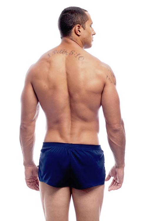 Go Softwear AJ Ultra Running Short 8316 - Navy Blue - Mens Athletic Shorts - Rear View - Topdrawers Clothing for Men