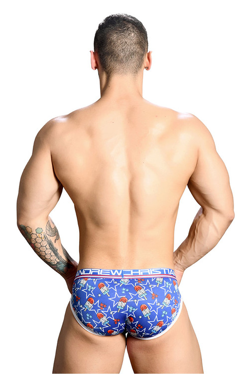 Andrew Christian Popsicle Brief w/ Almost Naked 91136 - Mens Briefs - Rear View - Topdrawers Underwear for Men