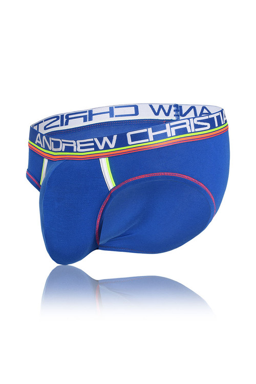 Andrew Christian CoolFlex Modal Active Brief w/ Show-It 91118-ROY - Royal Blue - Mens Briefs - Garment View - Topdrawers Underwear for Men