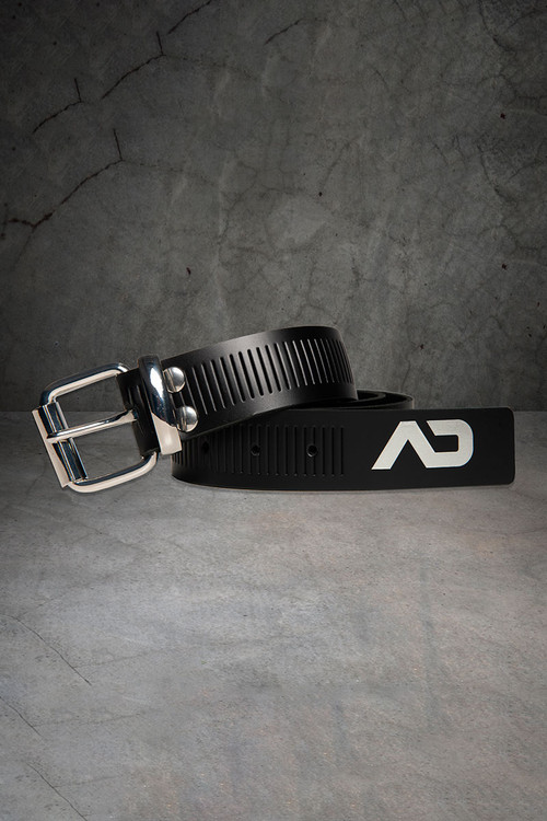 Addicted Fetish AD Fetish Leather Belt ADF120-21 - Silver - Mens Belts - Front View - Topdrawers Gear for Men