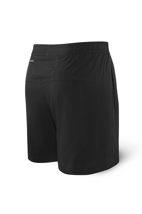 Saxx Kinetic Sport 2N1 Short SXKS27-BLK - Mens Athletic Shorts - Rear View - Topdrawers Clothing for Men