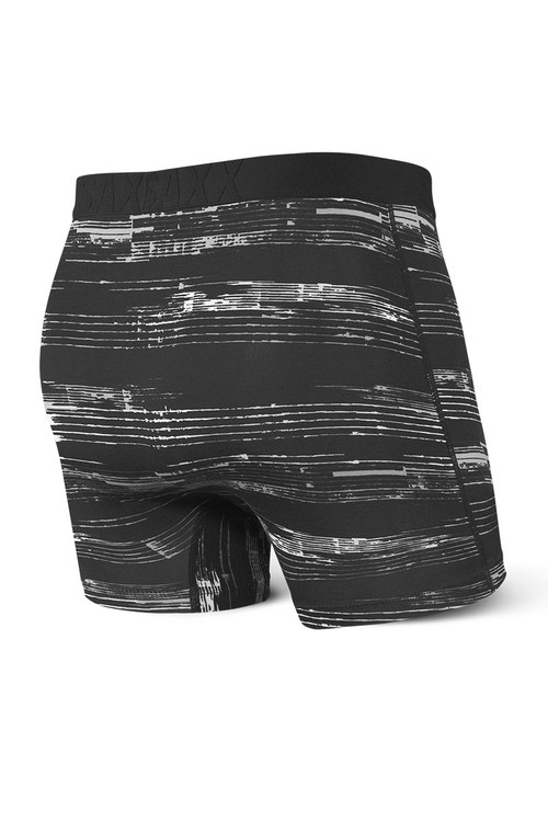 Saxx Undercover Boxer Brief w/ Fly SXBB19F-BPB - Black Point Break - Mens Boxer Briefs - Rear View - Topdrawers Underwear for Men