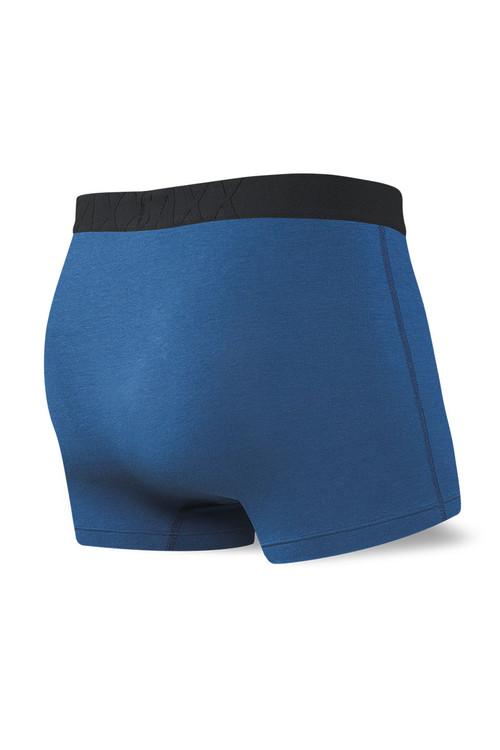 Saxx Undercover Trunk w/ Fly SXTR19F-CIT - City Blue - Mens Boxer Briefs - Rear View - Topdrawers Underwear for Men