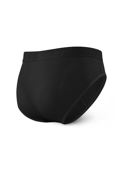 Saxx Undercover Brief w/ Fly SXBR19F-BLK - Mens Briefs - Rear View - Topdrawers Underwear for Men