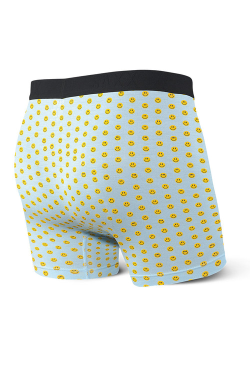 Saxx Vibe Boxer Brief Modern Fit SXBM35-HPB - Blue Happy -  Mens Boxer Briefs - Rear View - Topdrawers Underwear for Men