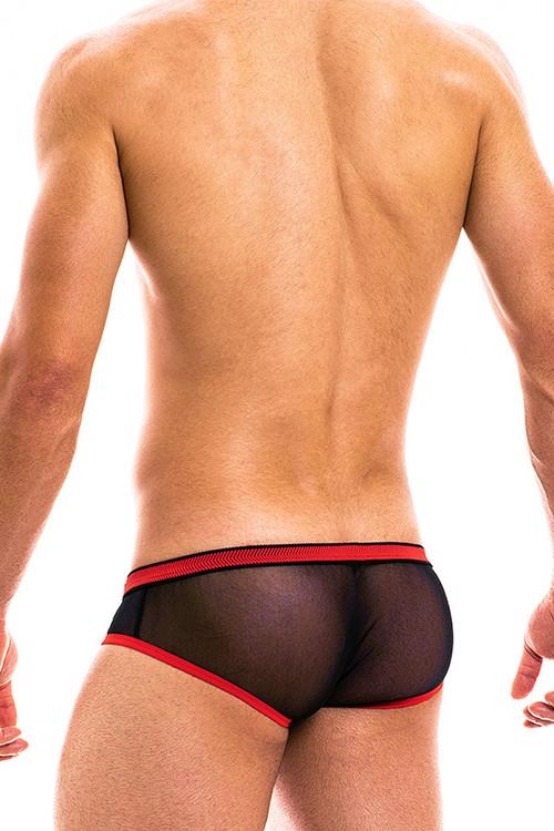 Modus Vivendi Capsule Brief 16912-BLRD - Black/Red - Mens Briefs - Rear View - Topdrawers Underwear for Men