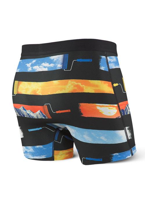 Saxx Volt Boxer Brief SXBB29-SUS - Sunset Strip - Mens Boxer Briefs - Rear View - Topdrawers Underwear for Men