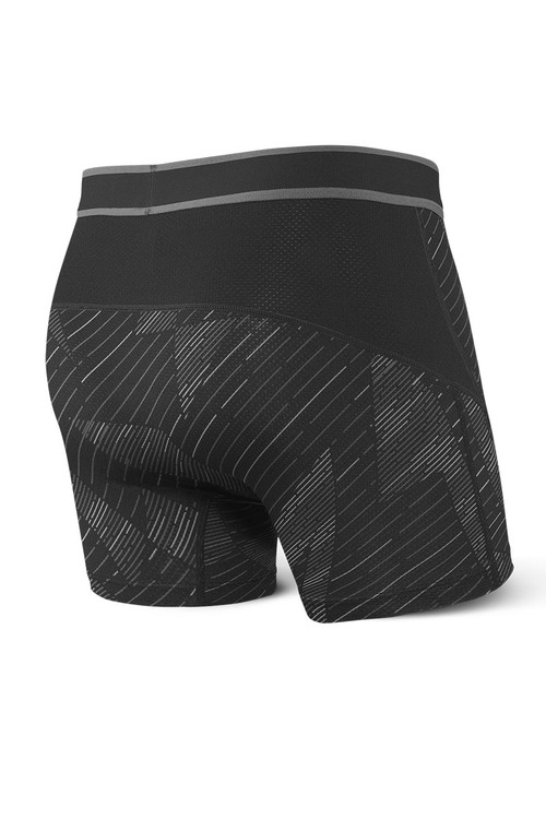 Saxx Kinetic Boxer Brief SXBB27-BSH - Black Shattered - Mens Boxer Briefs - rEAR View - Topdrawers Underwear for Men