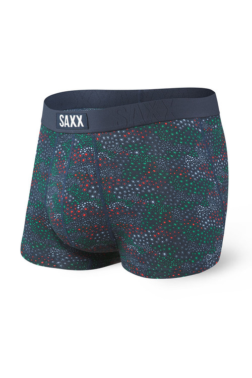 Saxx Undercover Trunk w/ Fly SXTR19F-BFC - Blue Floral Camo - Mens Boxer Briefs - Front View - Topdrawers Underwear for Men