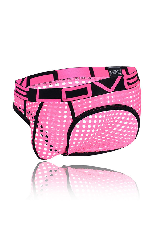 Andrew Christian Love Naughty Mesh Brief 91158 - Mens Briefs - Garment View - Topdrawers Underwear for Men