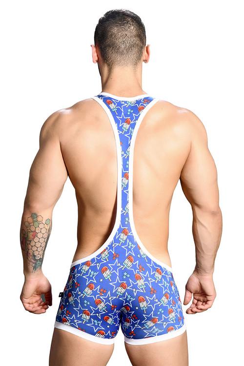 Andrew Christian Popsicle Wrestler Singlet w/ Almost Naked 91138 - Mens Wrestler Singlets - Rear View - Topdrawers Underwear for Men