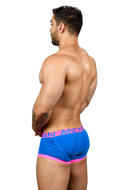 Andrew Christian FlashLift Boxer w/ Show-It 91123-EBU - Electric Blue - Mens Boxer Briefs - Rear View - Topdrawers Underwear for Men