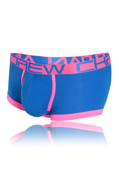 Andrew Christian FlashLift Boxer w/ Show-It 91123-EBU - Electric Blue - Mens Boxer Briefs - Garment View - Topdrawers Underwear for Men