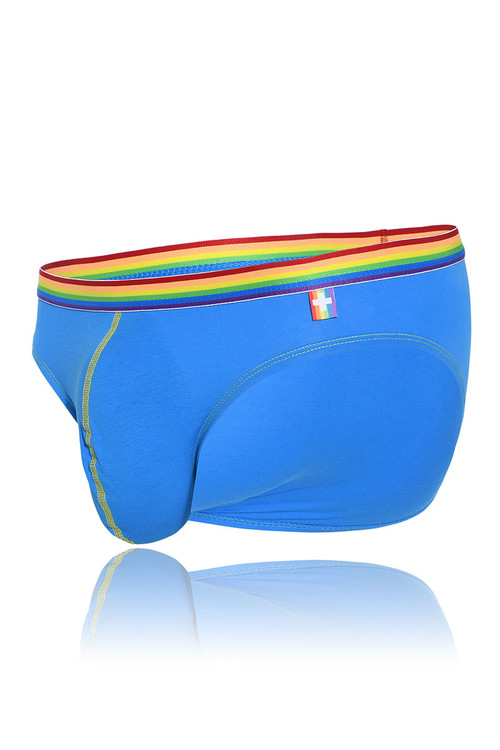 Andrew Christian 3-Pack Unicorn Boy Brief w/ Almost Naked 91184 - Blue - Mens Briefs - Garment View - Topdrawers Underwear for Men
