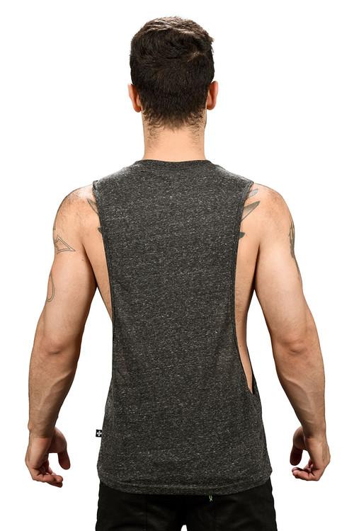 Andrew Christian Happy Tagless Gym Tank 2679-VBL - Vintage Black - Mens Tank Tops - Rear View - Topdrawers Underwear for Men