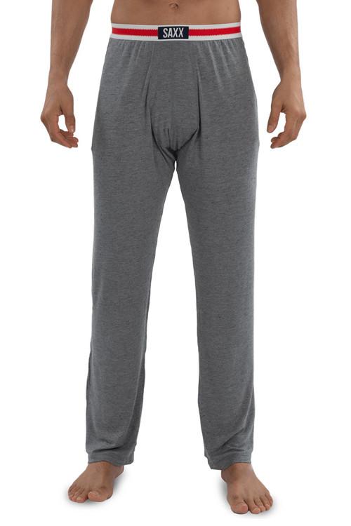 Saxx Sleepwalker Pant SXLW32-GSM Grey Heather Sock Monkey - Mens Pyjama Pants - Front View - Topdrawers Sleepwear for Men