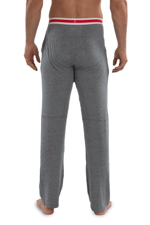 Saxx Sleepwalker Pant SXLW32-GSM Grey Heather Sock Monkey - Mens Pyjama Pants - Rear View - Topdrawers Sleepwear for Men