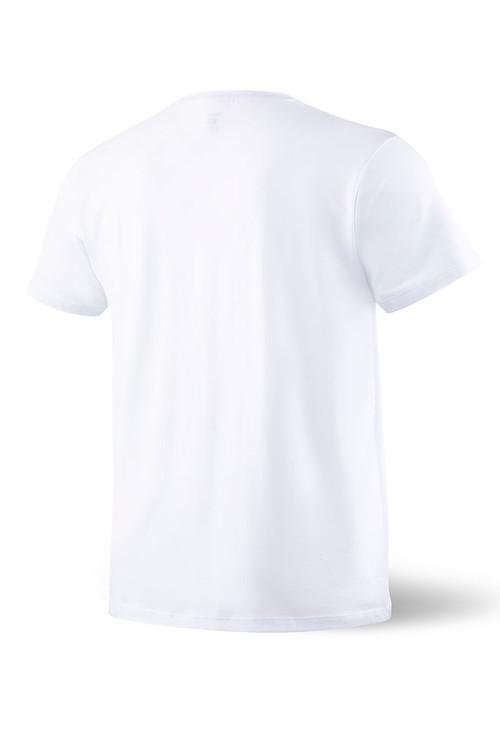 Saxx Sleepwalker Tee S/S SXLW31-WHT White - Mens Pyjama Shirts - Rear View - Topdrawers Sleepwear for Men