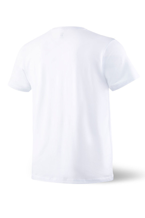 Saxx Sleepwalker Tee S/S SXLW31-WHT White - Mens Pyjama Shirts - Rear View - Topdrawers Sleepwear for Men