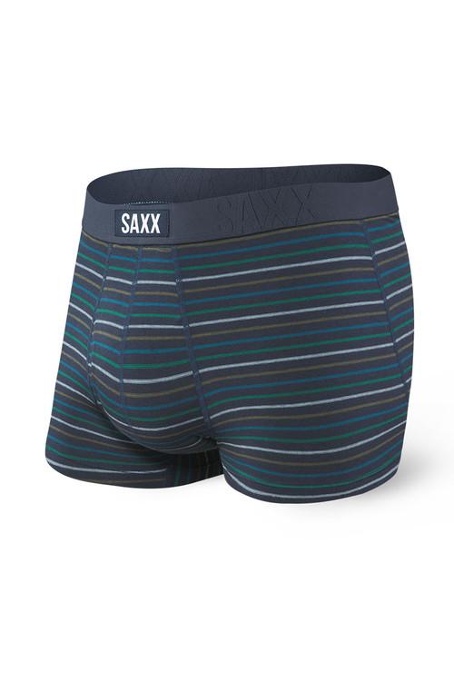 Saxx Undercover Trunk w/ Fly SXTR19F-BSK Blue Skipper Stripe - Mens Trunk Boxer Briefs - Front View - Topdrawers Underwear for Men