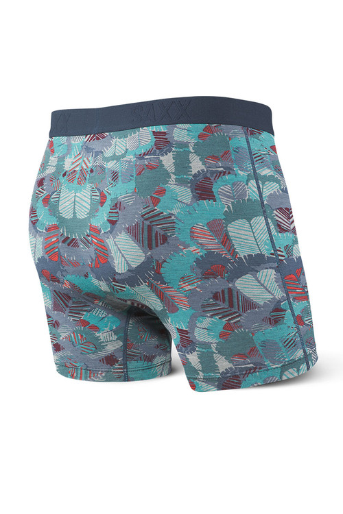 Saxx Ultra Boxer Brief w/ Fly SXBB30F-FTB Blue Feathers - Mens Boxer Briefs - Rear View - Topdrawers Underwear for Men