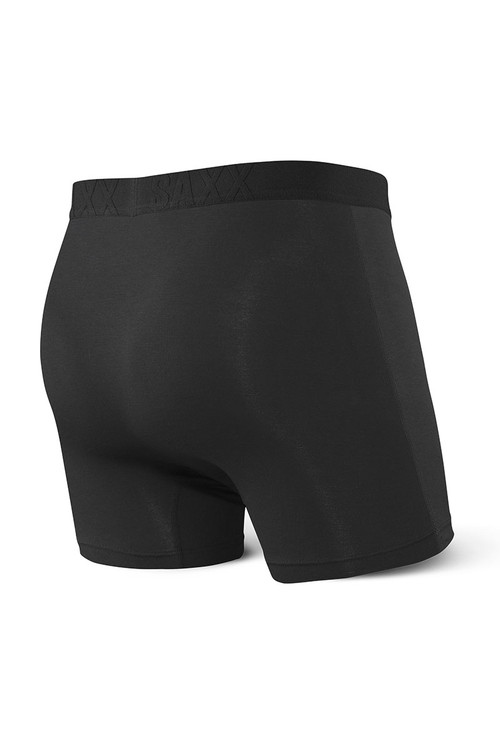 Saxx 2-Pack Ultra Boxer Brief w/ Fly SXPP2U-PAI Paintroller/Black - Mens Boxer Briefs Multipack - Rear View - Topdrawers Underwear for Men