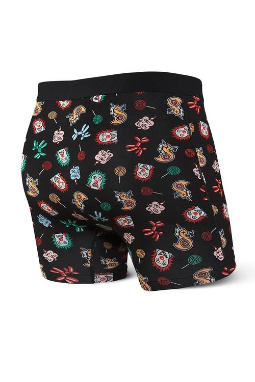 Saxx Vibe Boxer Brief SXBM35-WWB Black Wonderworld - Mens Boxer Briefs - Rear View - Topdrawers Underwear for Men
