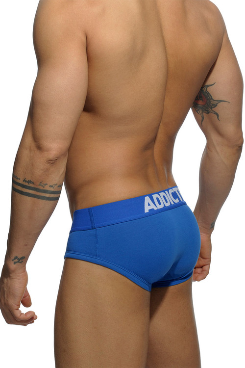 Addicted Basic Brief AD420P-16 - Royal Blue - Mens Briefs - Rear View - Topdrawers Underwear for Men