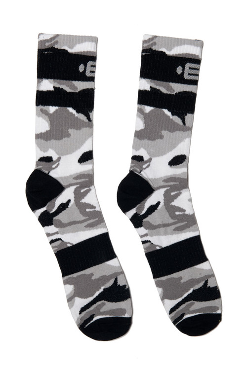 ES Collection Camo Socks SCK08-17M0 - Camouflage Mod- Mens Socks - Front View - Topdrawers Clothing for Men