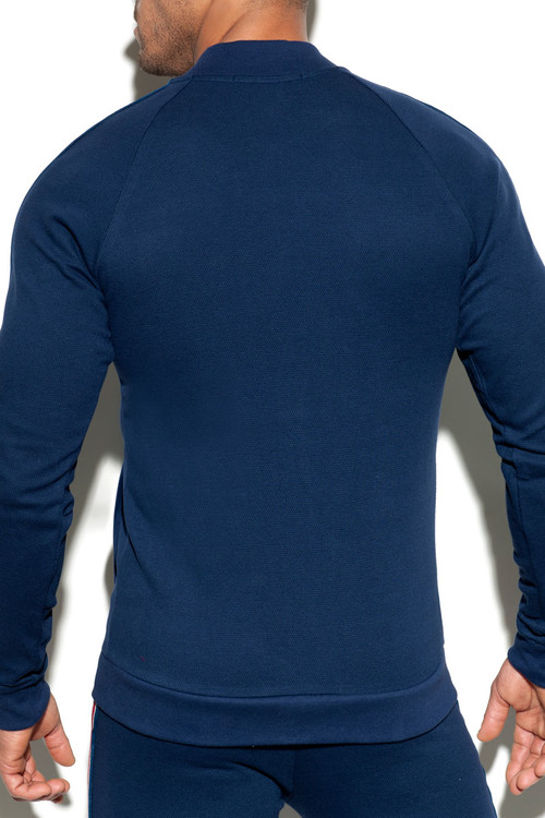 ES Collection Fit Tape Jacket SP208-09 - Navy Blue - Mens Sport Jackets - Front View - Topdrawers Clothing for Men