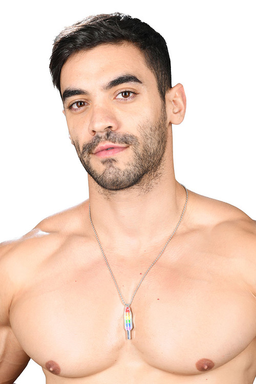 Andrew Christian Pride Popsicle Necklace 8416 - Mens Jewellery - Front View - Topdrawers Accessories for Men
