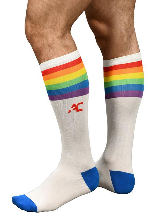Andrew Christian Pride Stripe Socks 8418