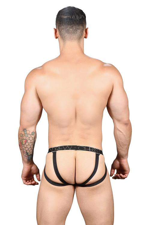 Andrew Christian Sheer Leopard Brief Jock w/ Almost Naked 91277 - Mens Jock Briefs - Rear View - Topdrawers Underwear for Men