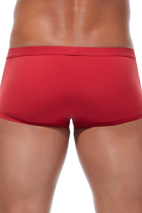 Gregg Homme Caliente Swim Boxer 170645-RD Red - Mens Swim Trunks - Rear View - Topdrawers Swimwear for Men